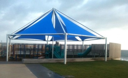 Shade sails at Burnie waterfront playground