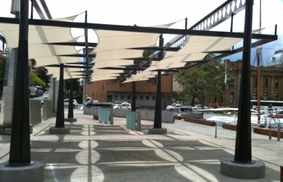 Shade protection at Mawson Place